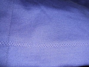 stretch knit hem stitch