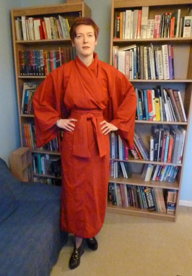 Red kimono front view