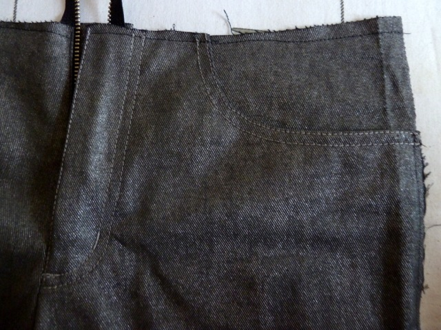 Silver trousers in progress