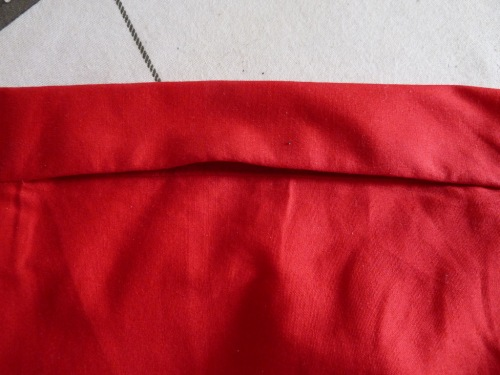 Red dress pocket