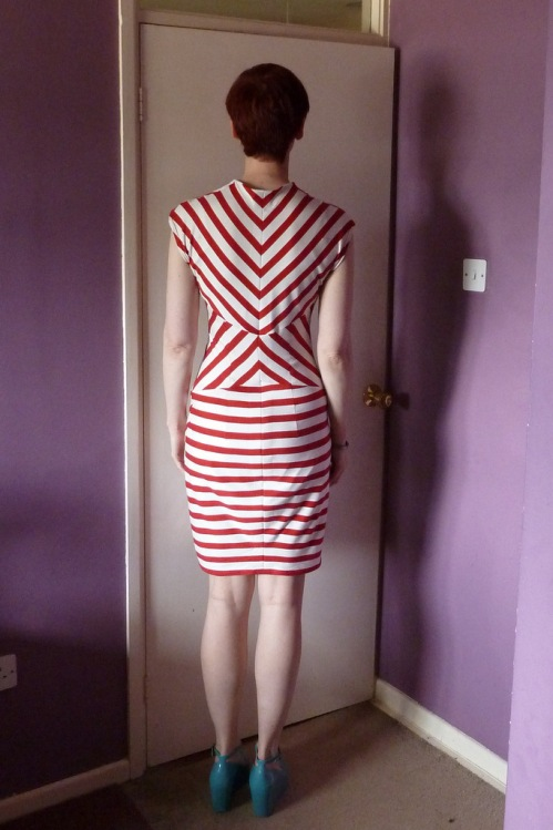 Burda 117-02-2012 stripes front view