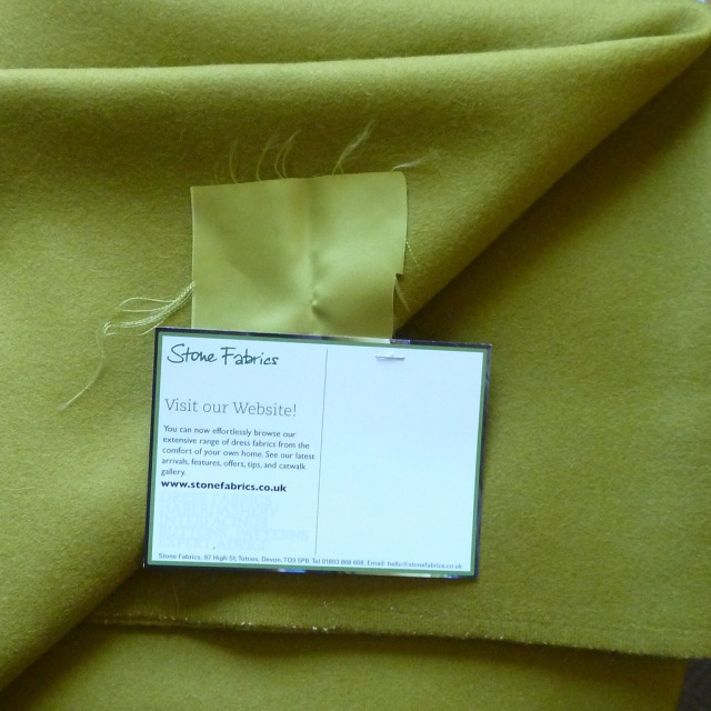 Chartreuse wool coating