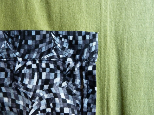Shirt dress inside hem and placket