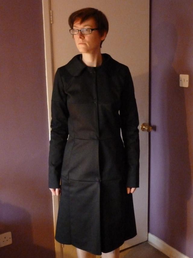 Coat muslin full length