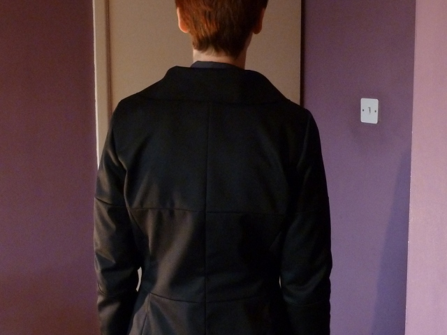 Back view of muslin