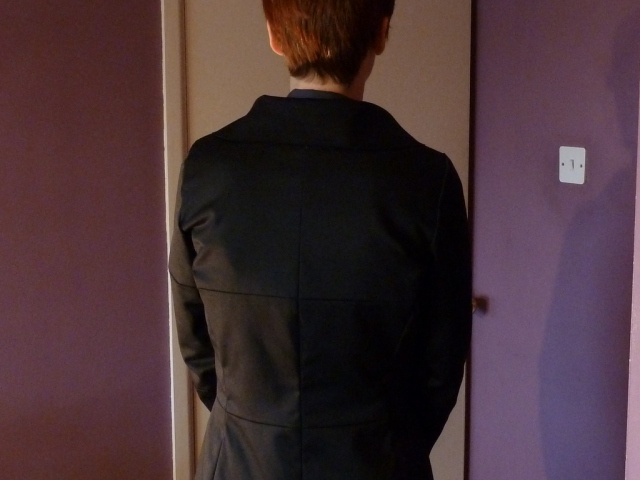 Back view with arms forward