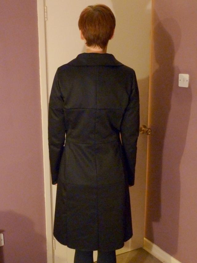 Coat muslin 2 back view