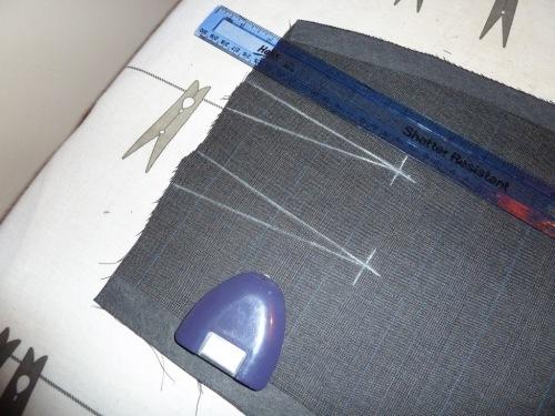 Marking darts on skirt