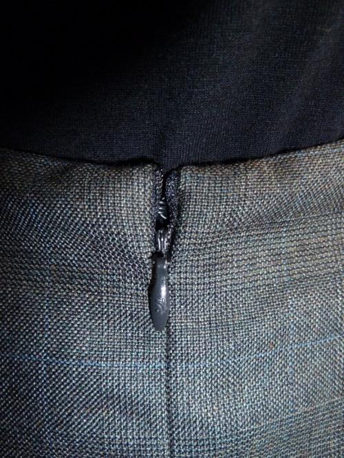 Top of skirt zip