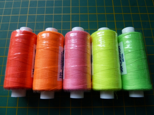 Fluorescent thread from Minerva crafts