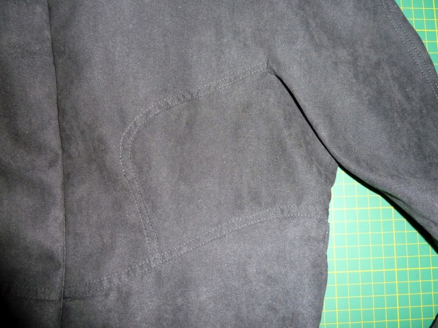 Vogue 1317 topstitching detail
