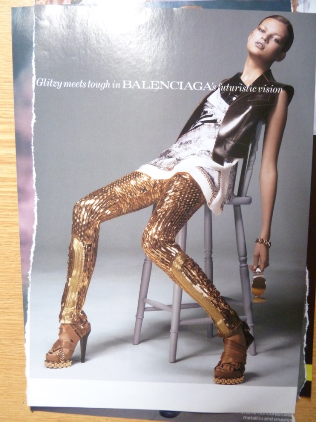 Balenciaga gold leggings