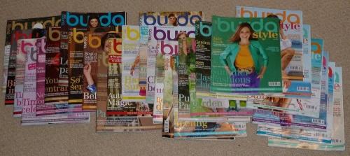 Pile of Burda mags