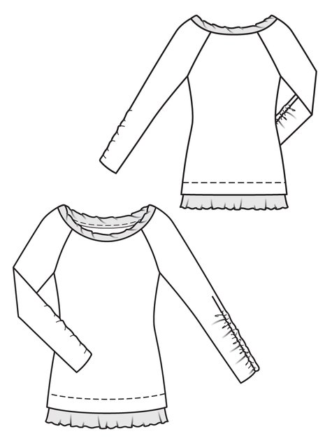 Burda 119-01-2013 technical drawing