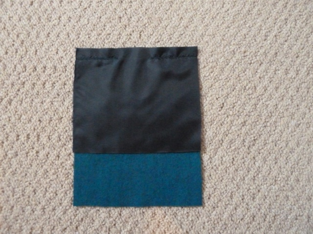 Pocket piece with lining attached