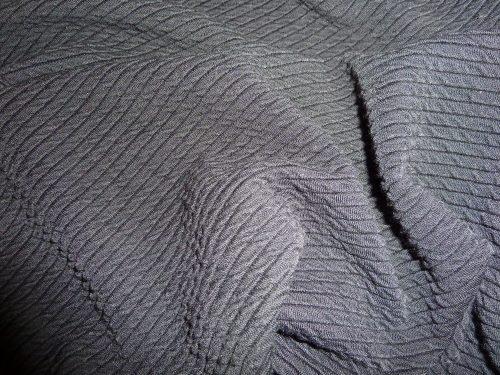 Blue textured doubleknit