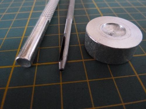 Rivet tools closeup