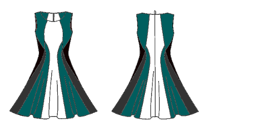 Vogue 1408 in teal/black/grey/white