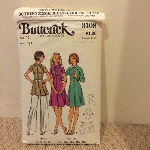 Butterick 3108 envelope front