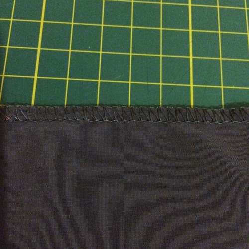 Flat overlocker edge
