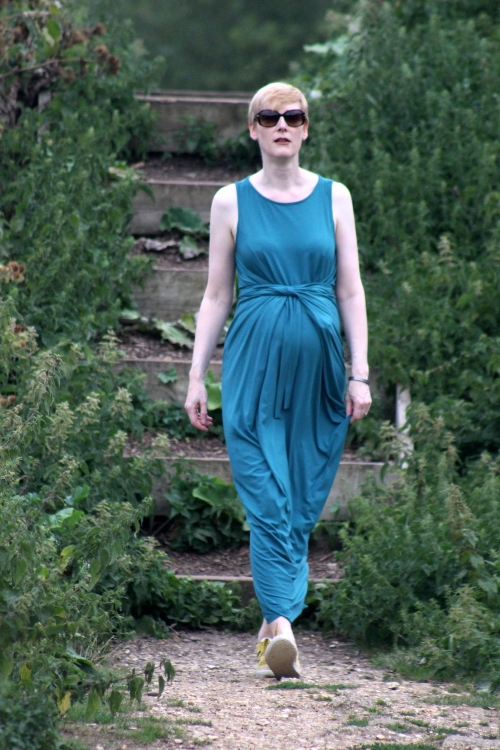 Kielo wrap dress action shot