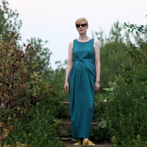 Kielo wrap dress front view full length