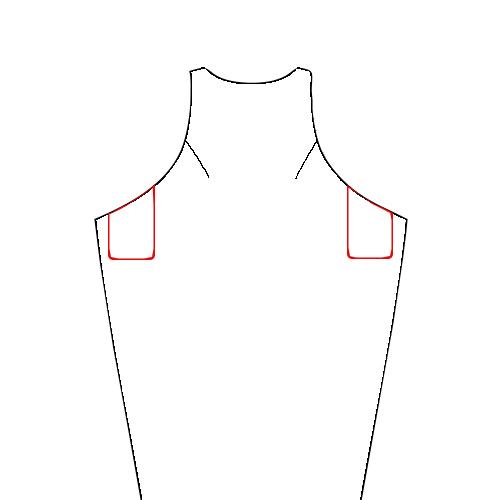 Kielo line art with pockets