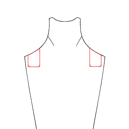 Kielo line art with pockets
