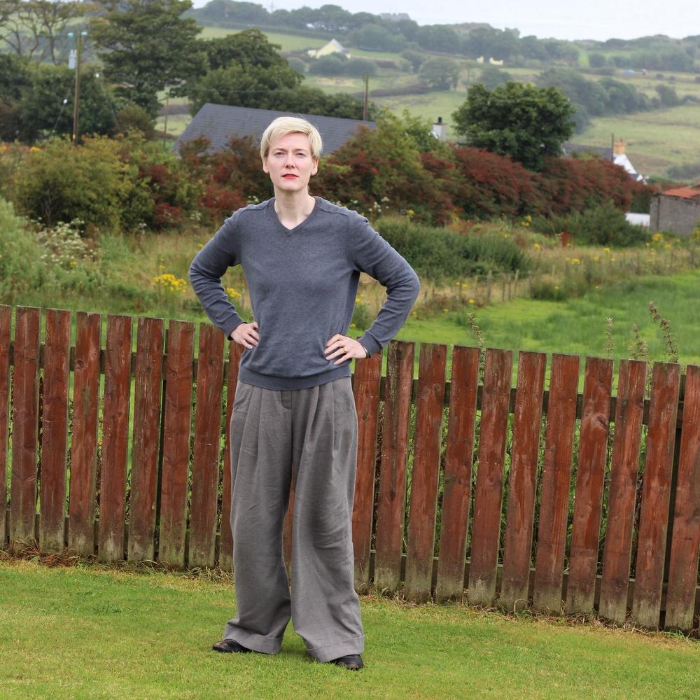 Burda 118-09-2015 grey wide legged trousers