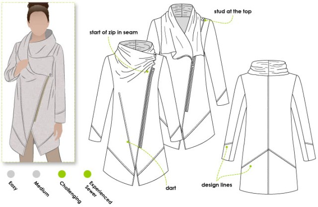 Style Arc Genevieve technical drawing