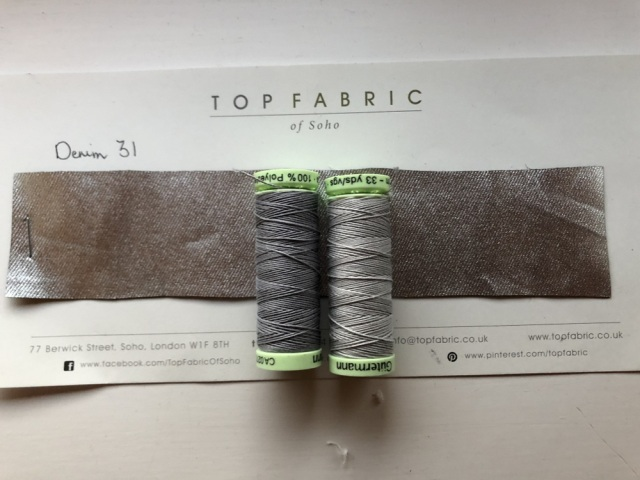 Gutermann topstitch thread colours 40 and 38