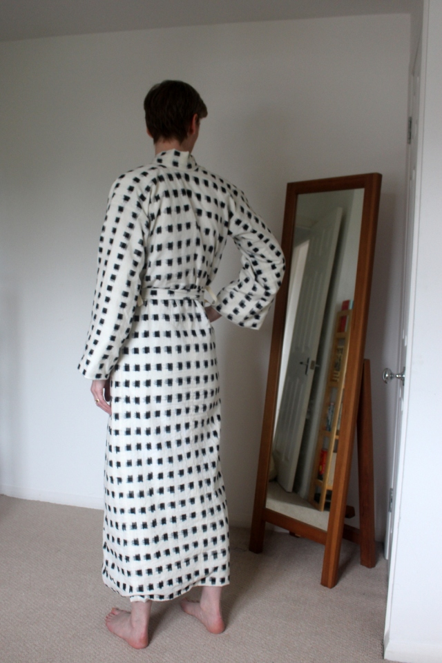 Ikat kimono back view