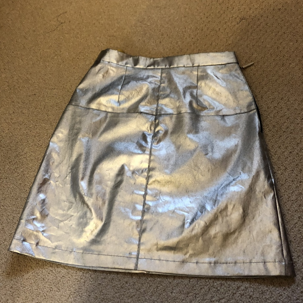 Silver skirt with centre front seam