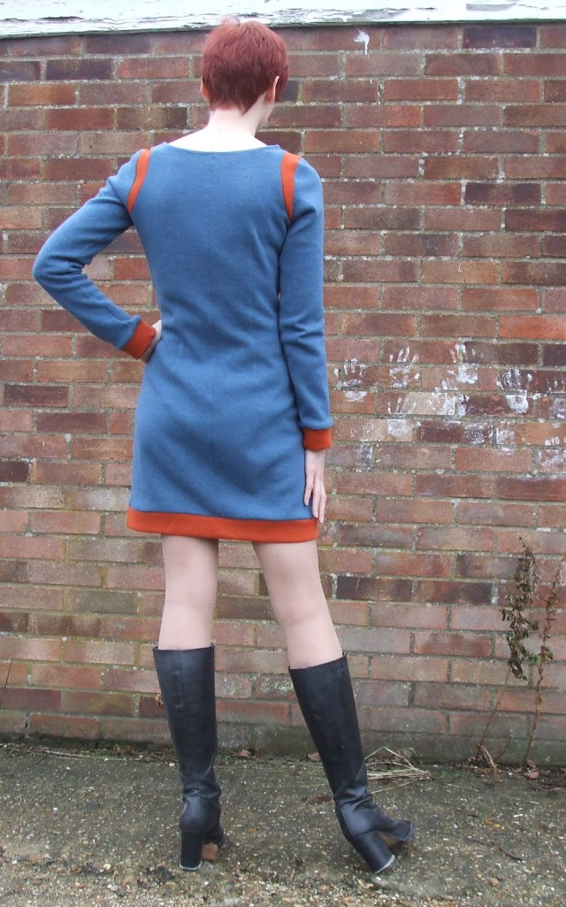 Star Trek McCalls 2401 Blue and orange dress