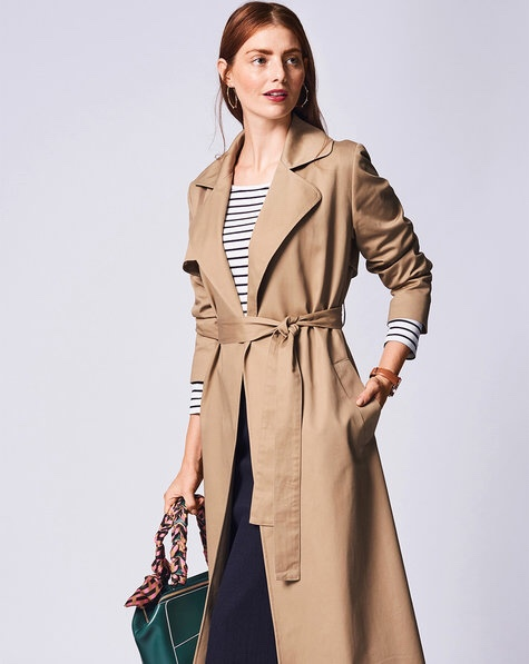 Burda 105 02/2019 trench coat model photo